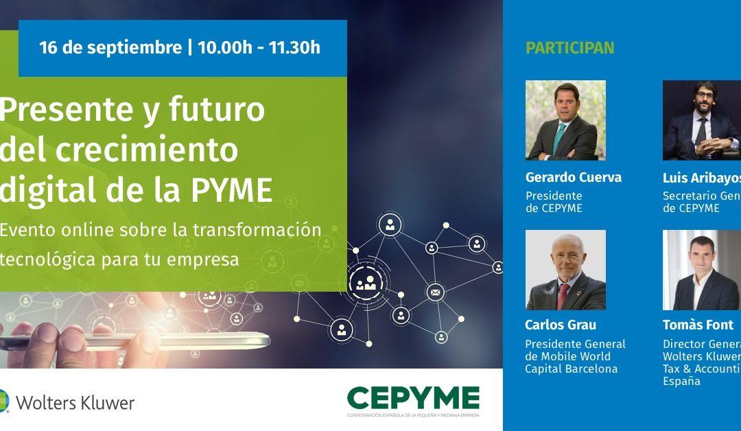 Evento Online ¡Presente y futuro del crecimiento Digital de la PYME!